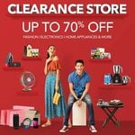 Clearance Store Upto 70% off on Fashion, Electronics, Home Appliances & More