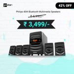 Philips 40 W 5.1 Bluetooth Home Theatre  at ₹3,499