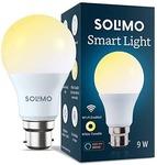 Amazon Brand - Solimo Wi-Fi Smart Light, 9W, B22 Holder, Alexa Enabled (Yellow/Light Yellow/White)