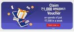 Live - PayZapp Get Rs.1,000 Amazon Voucher on spending Rs. 7,000