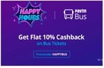 Paytm Travel: Book Flight Or Bus Ticket Get 10% Cashback (Bus Flight)