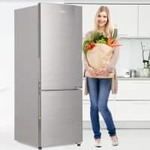 [Axis CC/DC +Coin] Haier 256 L Frost Free Double Door Bottom Mount 3 Star Convertible Refrigerator(DAZZLE STEEL, HEB-25TDS) Rs. 19340- Flipkart