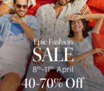 Upto 70% off in Myntra Epic Fashion Sale + 10% discount on ICICI Credit & Debit Cards (8-11 April)
