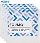 Amazon Brand - Solimo Medium Grain Cotton Canvas Boards Minimum 69% OFF