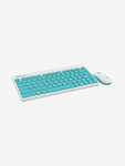 Portronics Key2 Combo Wireless Gaming Keyboard and Mouse Combo (White and Blue)
