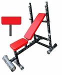 Produman hubPHELIX MUTIPURPOSE Gym Exercise Bench,(Incline + Decline + Flat +legstoper+Preacher Bench) model-pd4in1t