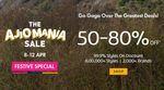 The Ajio Mania Sale 50-80% off   8th - 12th April ]