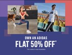 Adidas Clothing & Accessories Flat 50% Off On Selected Merchandise