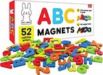 PLAY POCO ABC Magnets Capital Letters - 52 Magnetic Letters - Ideal for Alphabet Learning & Spelling Games - Made from Non-Toxic Foam Material with Full Magnet Back
