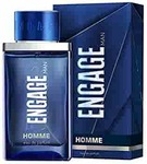 Engage Homme Eau De Parfum for Men, Citrus and Woody, Skin Friendly, 90ml