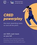 Cred Power Play is On  Win 100% Cashback on your Bill Payment.