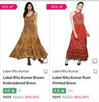 Label Ritu Kumar Women Dresses up to 89% off starting @ 899 Rs( 5 Items Left)