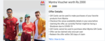 Myntra Gift Voucher worth Rs.2000 @ 2000 SuperCoins