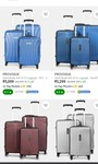 PROVOGUE branded suitcase set of 3 ratings 4+ upto 82% off start@ ₹ 5099 + use coins for more off