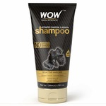 WOW Skin Science Charcoal & Keratin Shampoo - No Sulphates, Parabens, Silicones, Salt & Color (200mL)
