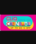 Cliq Carnival  Upto 85 % Off on Electronics and Clothing + 10% off via HDFC Bank Cards (16 - 20 April)