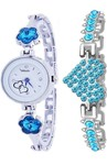 New Arrival Stylish Attractive Ethnic Blue Bracelet Look Analog Watch for Girls Analog Watch - For Women upto 90%off