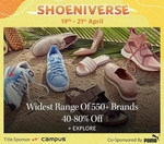 Myntra Shoeniverse 50-80% Off + 10% off on Bank of Baroda Credit Card  19th - 21st April