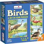 Creative's Birds Part - 2 Puzzles (Multi-Color, Pack of 4)