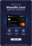 BharatPe Card (Previously Xtraincome) - Credit & Debit Card