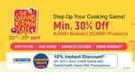 Last Day The Grand Kitchen Sale - Up to 80% Off + 10%  Discount On HDFC Bank Cards & EMI transactions