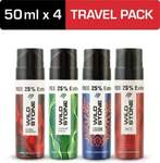 Wild Stone Forest Spice, Legend, Ultra Sensual & Red Travel Pack (50ml each) Deodorant Spray - For Men  (200 ml, Pack of 4) upto 38%off