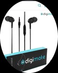 Digimate In the Ear Wired Earphones With Mic & Free shipping