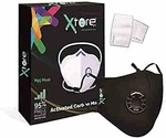 Xtore® N-95 / PM2.5 Ultra Comfortable Anti Pollution Mask | FDA CE Certified | Premium Quality | Washable - (Pack of 2 mask, 4 filters)