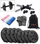 Fitness Dumbbell Set with Hand Towel & Gym Bag ((Combo of 4), 22 Kg @637
