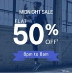 Asics Midnight Sale Flat 50% Off On Clothing & Accessories | 8PM-8AM