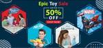 Hamleys Epic Toys Sale Upto 50% Off On Branded Toys + Additional 10% Off