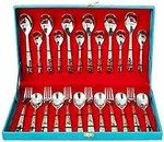 Price Drop - Sanjeev Kapoor Premium Stainless Steel Murphy Laser Cutlery Set A with Baby Spoon 24 pcs