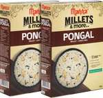 Manna Instant Millet breakfast - Ready to Cook Pongal - 6 Servings. 100% Natural - No Preservatives/ No artificial colours, flavours or additives 180 g  (Pack of 2)