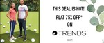Ajio Flash Deal - Flat 75% Off On Trends Clothing on Shop Above ₹1490