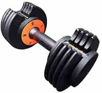 IRIS Fitness Adjustable Dumbbells with Fast Adjustable Weight Plates for Body Workout Home Gym (25 lbs x 2)