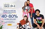 Ajio Payday Sale - Get 40% - 80% Off on Fashion [ 29 Apr - 3 May ]