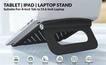Tukzer Foldable Laptop Stand Lapdesks, Portable Notebook Riser Stand