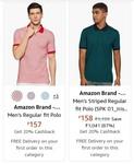 Polo T-shirt start @Rs. 161