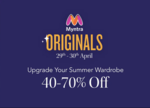 Myntra Originals 29-30th April | Upgrade your Summer Wardrobe 40-70% OFF
