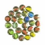 IMTION® Combo ( Pack of 100 Pcs Glass Marble Kanche for Decoration & Kids Playing + Free Cartoon Striker ) Kanche/ goli Glass Marbels with Shooter Unique Kanche Marble (Marble kanche)