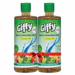 Giffy Fruit & Vegetable Wash with Vinegar & Salt by Wipro, 500 ml (Pack of 2)