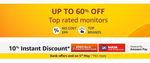 Top Brands Monitors Up to 60% Off + Extra Up to 1000  Coupon Off on Some + 10% ICICI & Kotak Bank CC Offer