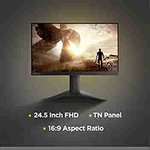 [ICICI or KOTAK]: Lenovo 25-inch FHD Gaming Near Edgeless Monitor, 144Hz, 1ms, 400 Nits Brightness, AMD FreeSync, TUV Certified Eye Comfort - G25-10 (Raven Black)