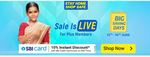Big Saving Days (Till 16 June ) - 10 % Instant Discount  Up to  2750 With SBI Bank CC/ EMI