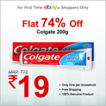 Colgate 200gm toothpaste @ Rs 19