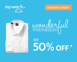 Now get 50% on your Laundry - Maximum discount = 200 - New Concept - Wednesday Offer Online DRY CLEAN And Iron