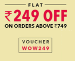 Flat Rs.249 off on minimum purchase of Rs.749 on all products