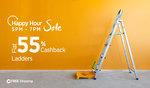 Flat 55% cashback on Ladders