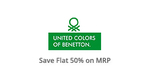 Flat 50%  On United Colors of Benetton @ Paytm