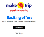 Flipkart :- MakeMyTrip Flights & Hotels offer for Republic Day Sales Event